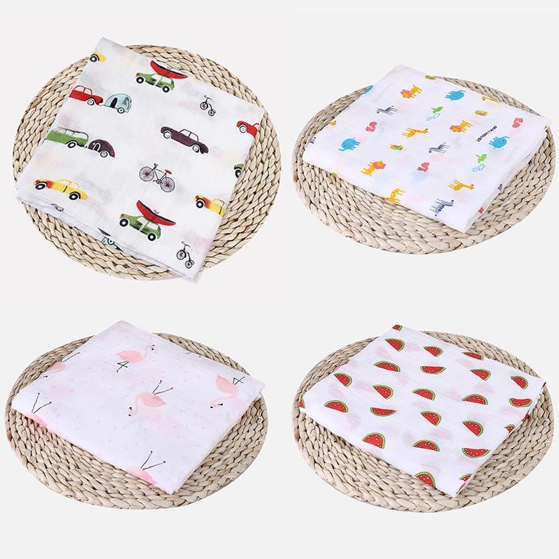 1Pc Muslin 100% Cotton Baby Blankets Swaddles Newborn Blanket Bath Gauze Toddler Infant Child Wrap Sleepsack Stroller Cart Cover