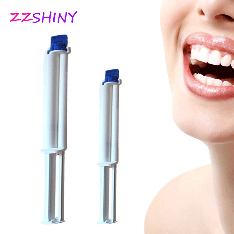 Free Shipping 35%HP Dental Teeth Whitening Gel Dual Barrel Syringe Tooth Cleaning Hydrogen Peroxide Oral Care Kit
