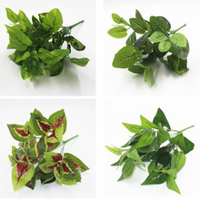 7 Forks/Bouquet artificial plants Leaf Simulation Plants Balcony Garden Landscape Home Decoration Accessories fake flowers