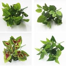 7 forchette/Bouquet artificiale piante Leaf Piante di Simulazione Balcone Giardino Paesaggio Della Decorazione Della Casa Accessori fiori finti