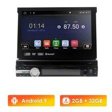 Reproductor DVD universal con GPS para coche, Reproductor multimedia 1 din para coche, Android 9, Quad Core,2G+32G, Bluetooth, 4G LTE, Wifi