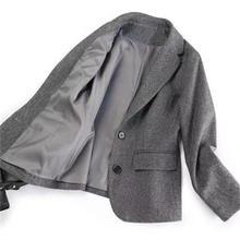 Fashion Woolen Blazer women jacket Winter New high quality Vintage British style