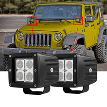 ECAHAYAKU 1PCS 3inch 12W 12V 24V  offroad LED work light Driving Fog Headlight for 4WD AWD SUV ATV Golf Cart Lamp
