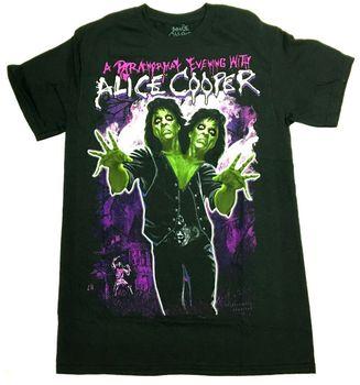 Alice Cooper-Camiseta Paranormal de noche con Alice Cooper, nueva camiseta oficial