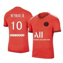 2021 New NEYMAR MBAPPE Messi  PSG Ligue Patch  Men Large size Soccer Jersey Adult Football Shirt Children