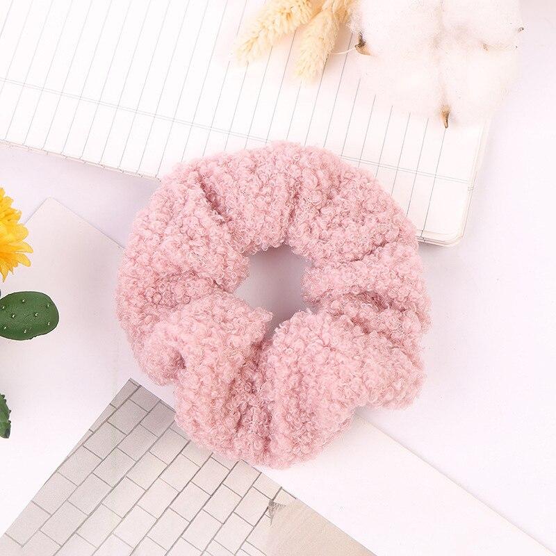 1 мягкий пушистый искусственный мех, пушистый благородный, новинка, шикарные резинки для волос, эластичное кольцо для волос, аксессуары, эластичные розовые резинки для волос - Цвет: 52