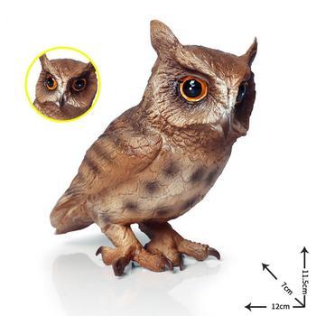 Realistic Owl Bird Wild Animal Action Figure PVC Model Craft Education Kids Toy Simulation Children Cognitive