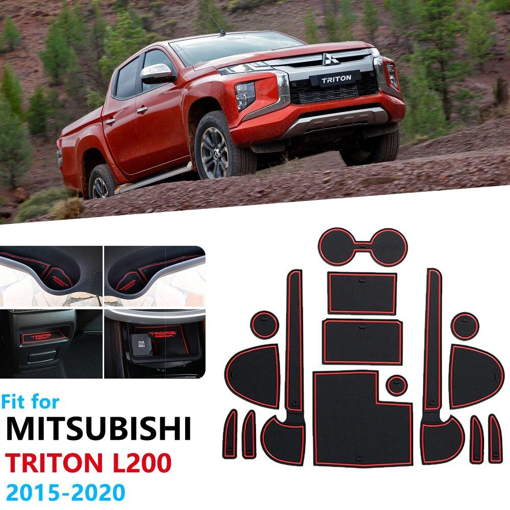 Противоскользящий резиновый коврик для дверей Mitsubishi L200, Triton, Strada, Strakar, Fiat, Fullback RAM 1200