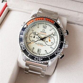 Omega-Lujo marca cerámica bisel hombres y wom movimiento mecánico automático 007 reloj diseñador relojes de pulsera 1940
