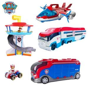 Оригинальный набор игрушек Щенячий патруль, автобус, собачья башня, спасательный летательный аппарат, кино, сцена, игрушки для детей, обучаю...