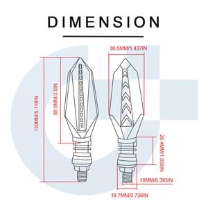 Image 5 - Clignotants universels de moto lampes led lumières lampe pour Honda CR125R CR85R CR85R Expert XR650R CRF250L CR250R XR650L