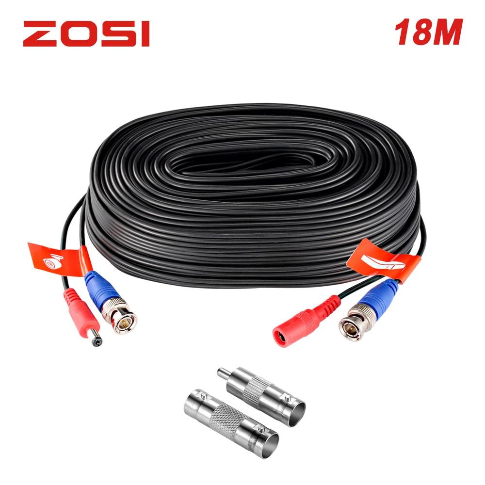 4 X 60ft BNC Video Power Siamese Cable for CCTV Surveillance Camera DVR 20m