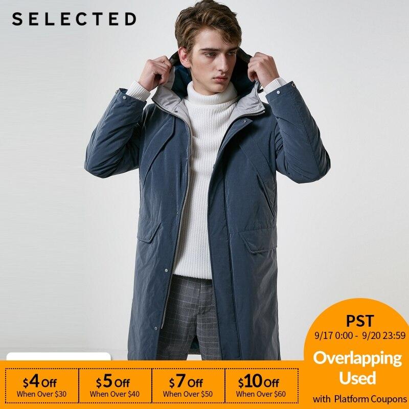 選択冬ロングダウンジャケット新男性ダックダウンコートキャップ暖かい服 S  418412576  グループ上の メンズ服 からの ダウンジャケット の中 1
