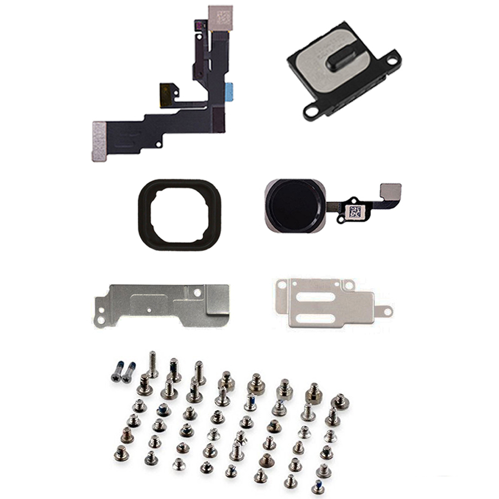 full LCD Parts front camera Home Button Flex Cable earpiece full set screws for IPhone 6 6p 6s 6s Plus image