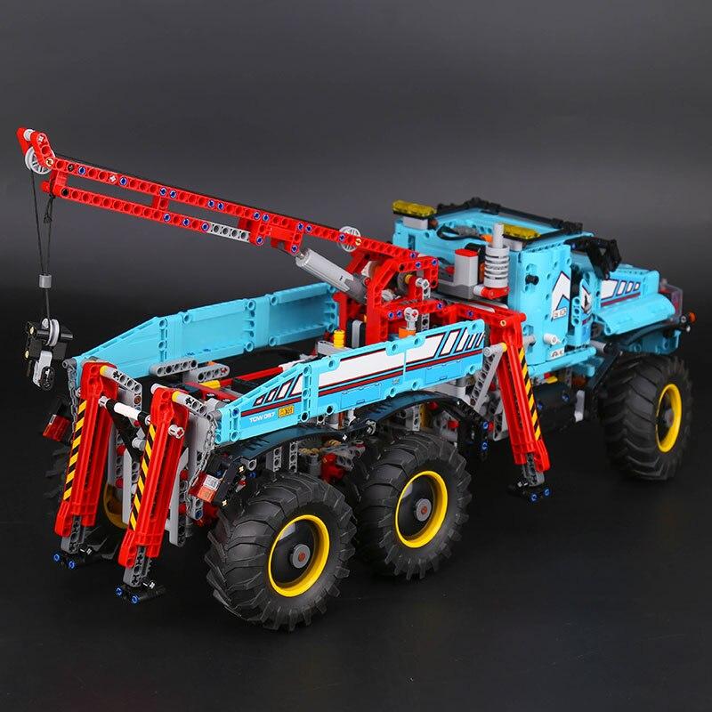 20056 Technik ultimative Alle Gelände 6X6 lkw set bausteine ziegel spielzeug Modell kompatibel Legoing 42070 Kind Weihnachten Geschenk - 3