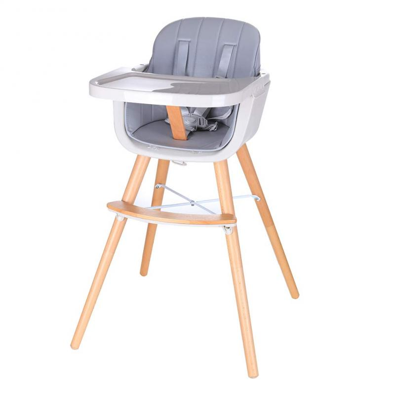 Baby Highchair Dining Chair Children's Solid Wood Dining Chair High Chair Booster Seat Portable Baby Chair Height-adjust Chairs