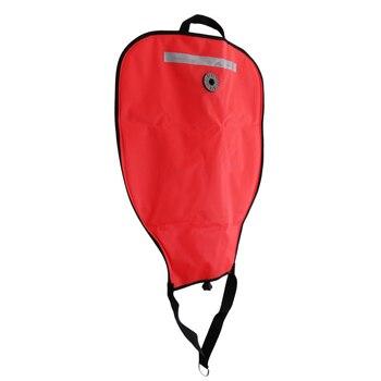 2Pcs Scuba Diving 50lbs Reflective Lift Bag & Over Pressure Relief Valve Red