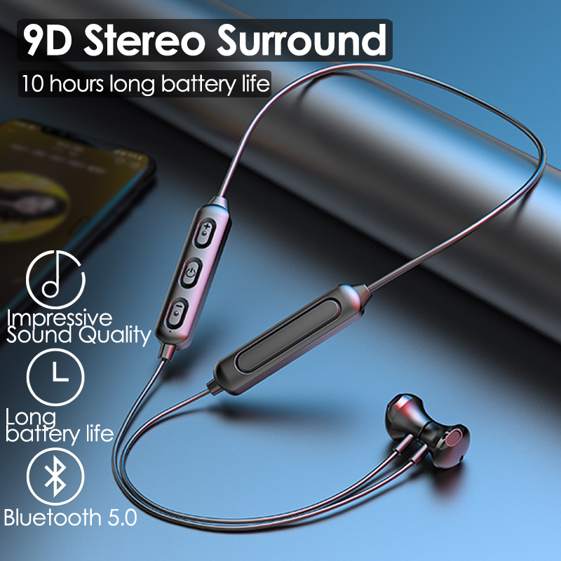 Neck Style Magnetic Bluetooth Headset Wireless Sports Headset Hanging Neck Bluetooth 5.0 In ear Headset For Running