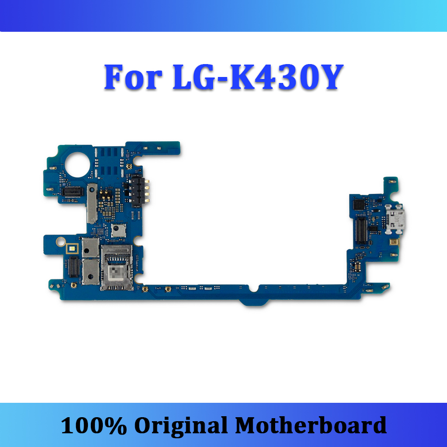 Original logic board for LG K10 K430Y K430DS motherboard unlocked with whole chips tested K430Y/K430T mainboard free shipping