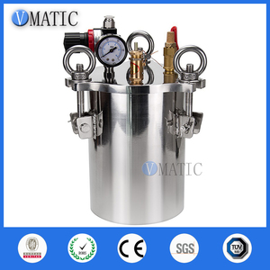 Image 2 - Free Shipping VMATIC Glue Dispensing Equipment Accurate Automatic Glue Machine With 2pcs 5L Pressure Tank Valve