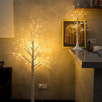 Silber Birke Lampe LED Weihnachten Nachahmende Baum Neue Jahr Bunte Lichter Wohnzimmer Hause Dekorative Lampe Frühling Festival Tag Lan