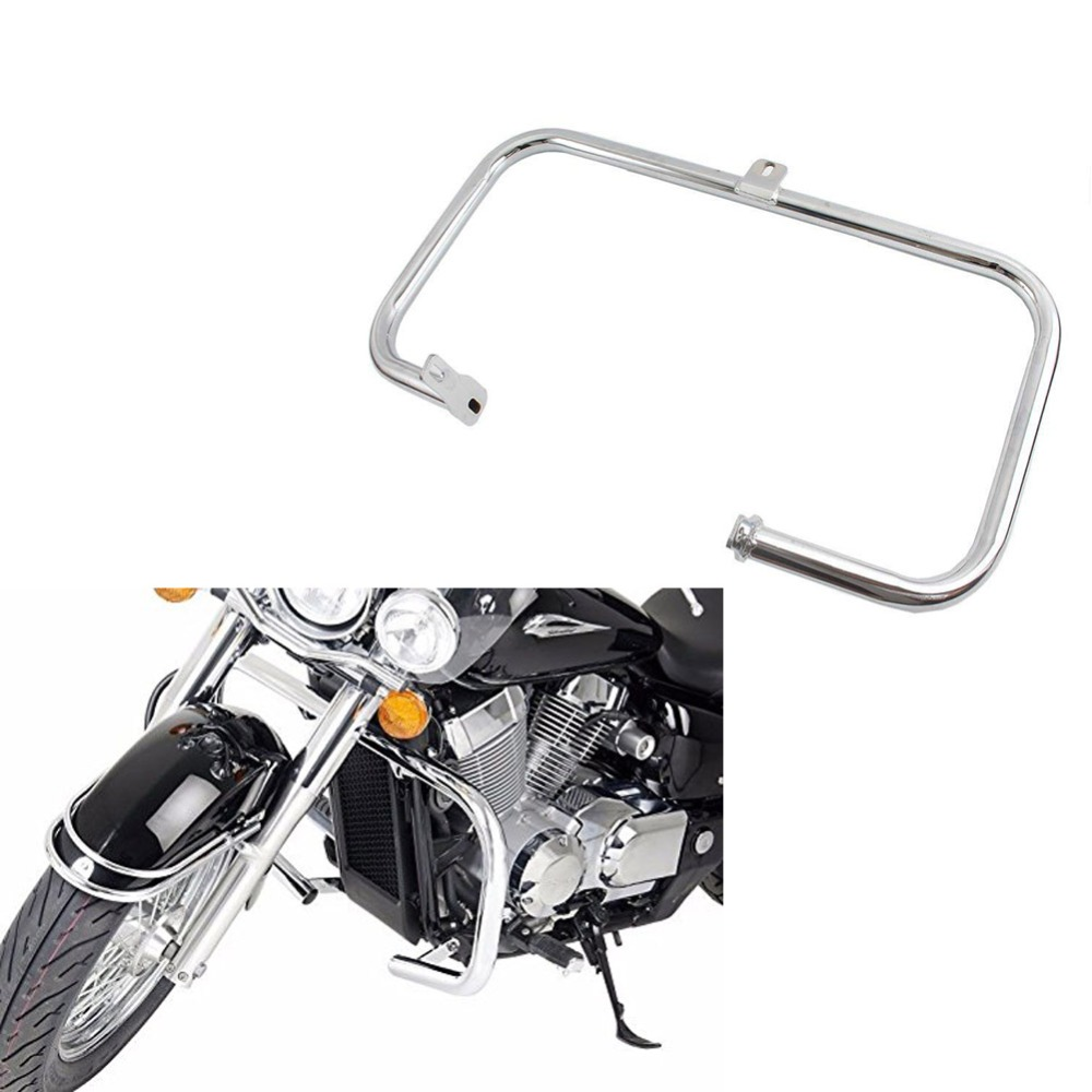 Chrome Highway Crash Bar Engine Guard For 2004 2011 Honda Shadow Aero VT 750 750C 2005 2006 2007 2008 2009 2010-in Covers & Ornamental Mouldings from Automobiles & Motorcycles    1