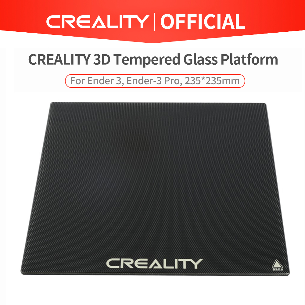 CREALITY 3D Tempered Glass Platform Heated Bed Build Surface Fit For Ender-3 Ender-3 Pro Ender-5 Ender-5 Pro CR-20 Pro Printer