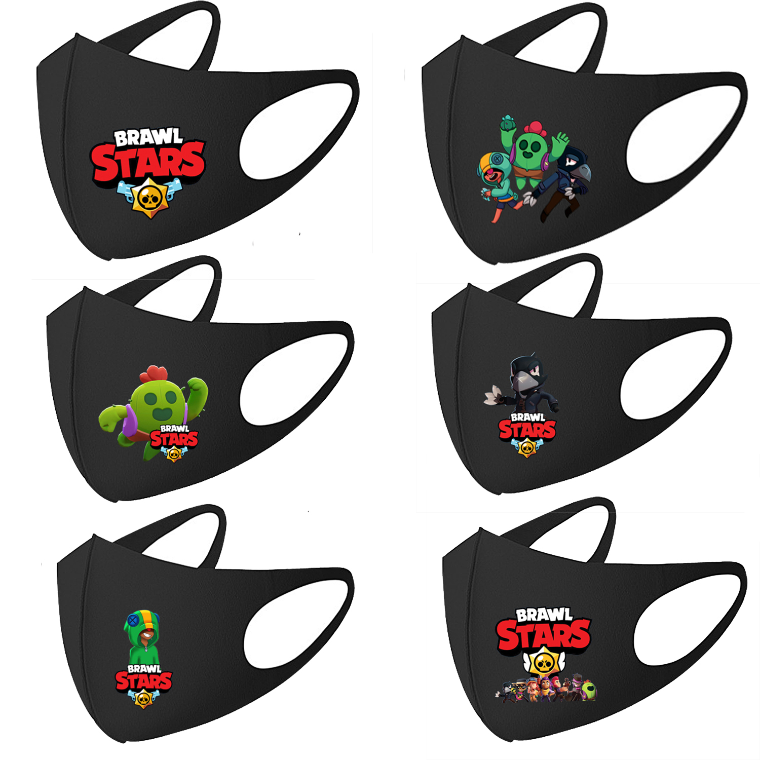 Brawling Game Stars Children Mouth Face Masks Dustproof Face Mask Cosplay Kids Anime Mouth Masks Washable Reusable Cover