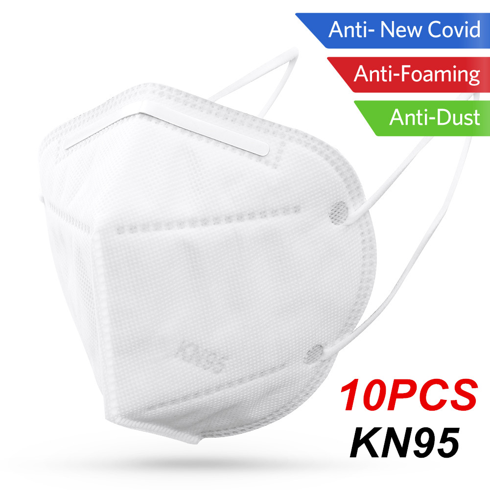 10pcs KN95 Mask Dustproof Face Mask PM2.5 95% Filtration 3 Filter Bacterial Protective N95 Mouth Mask Breathable KN95 Mask Cover