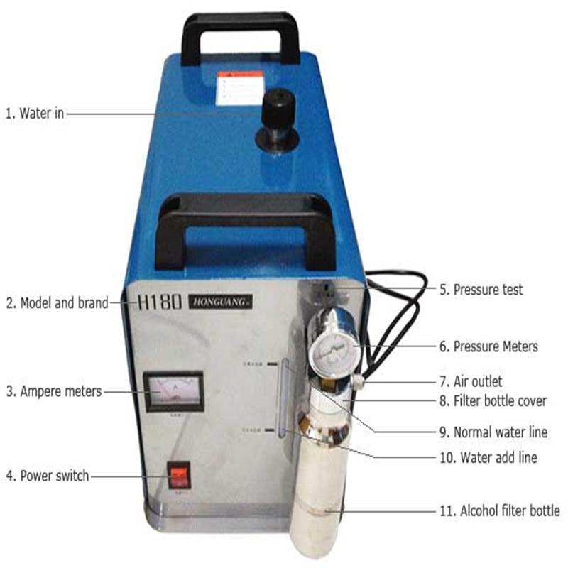 Hongguang H180 hordozható oxigén hidrogén lánggenerátor akril - Elektromos kéziszerszámok - Fénykép 3