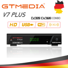 GTmedia V7 PLUS TV Terrestrial Receiver DVB-T2/S2 H.265 Support HDMI WIFI Set Top Box with 5 clines cccam For Europe/Italy/Spain 12storeez рубашка в мужском стиле изо льна черный