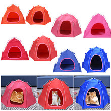 Portable Pet Dog Cat Outdoor Folding Tent Camping Mesh Playpen Fun Carry bag Playpen Puppy Kennel Fence Outdoor Pet Supplies(China)