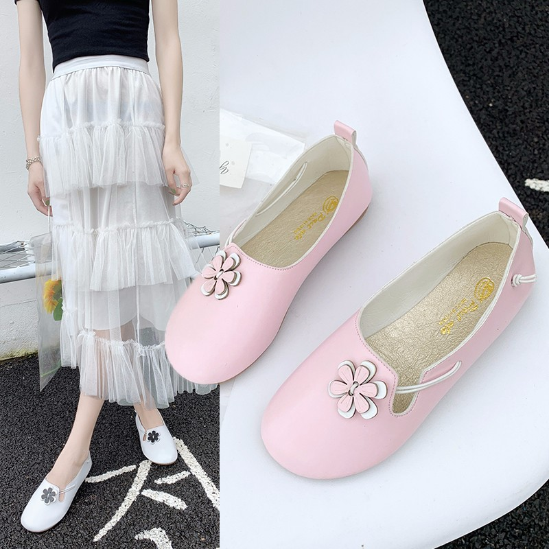 Mori Girl Literature And Art Retro Zen Petal Round-Toe Flat Top Shoes 2019 Summer New Style Cotton Linen Slip-on Shoes Women's