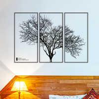 [SHIJUEHEZI] черное дерево, наклейки на стену, ПВХ материал, сделай сам, скандинавский стиль, настенное искусство для гостиной, ресторана, спальни,...