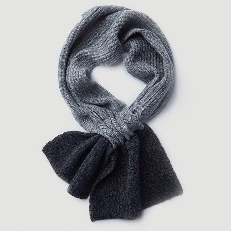 100% écharpe en cachemire naturel pour femmes hommes enfants hiver chaud cachemire col manches écharpe 2019 nouveau tricoté écharpe en cachemire et enveloppe - 4