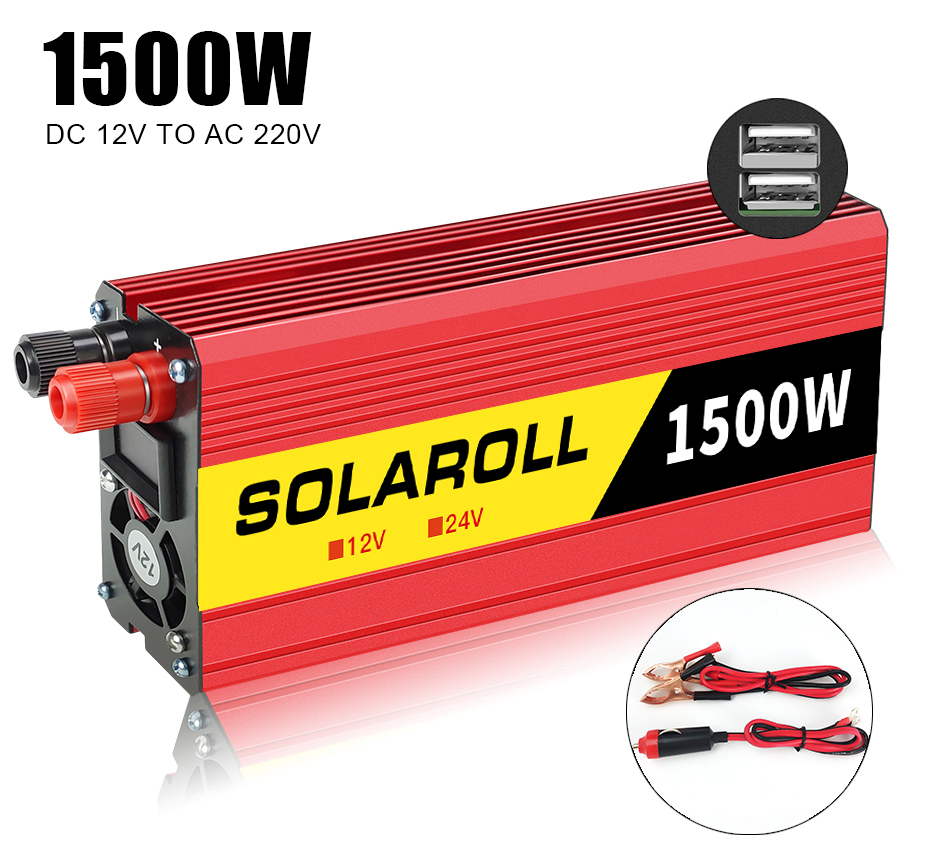 1500 Вт 2000 Вт автомобильный инвертор напряжения постоянного тока 12 В в переменный ток 220 В Автомобильное портативное зарядное устройство конв...