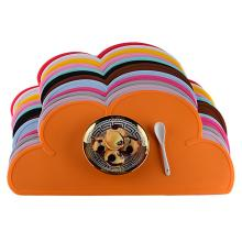 Портативная силиконовая подставка в форме облака детская тарелка коврик Водонепроницаемая скатерть термостойкая чаша коврик домашние Настольные принадлежности