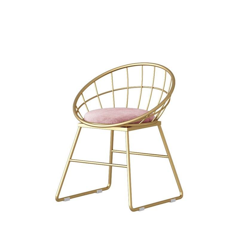 North Europe Ins Bar Chair Light Luxury Bar Chair Modern Simple Backrest Household High Stool Fashion Iron Line Stool