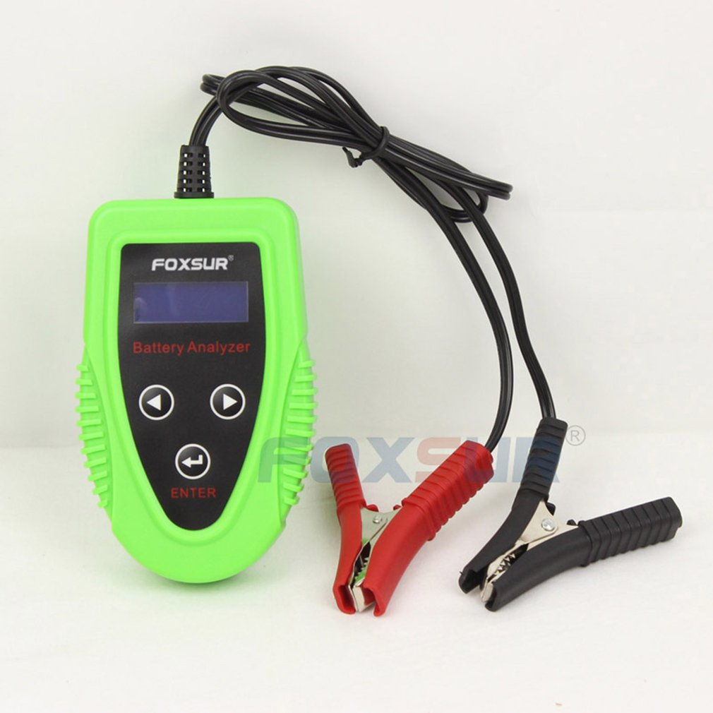 FOXSUR 12V Car Battery <font><b>Tester</b></font> LCD Battery Analyzer Scanner Battery Diagnostic Tool Gel AGM WET CA SLA Battery CCA <font><b>IR</b></font> SOH image