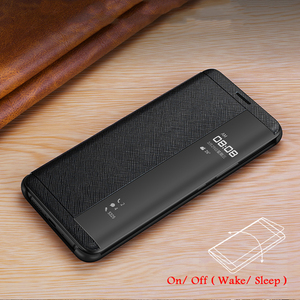 Image 3 - Vintage Cross Genuine Leather Case For Huawei Mate 20 RS Porsche Design Thin Smart Awake Sleep Flip Case Cover Mate 20 Pro X RS