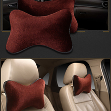 цены 2Pcs Vehicle Car Soft Warm Headrest Neck Pillow Automotive Seat Head Rest Plush Cushion Car Interior Accessories Winter 5