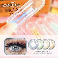 EYESHARE-lentes de contacto de colores para ojos, estuche de guijarros naturales, con imán, 2 unids/par