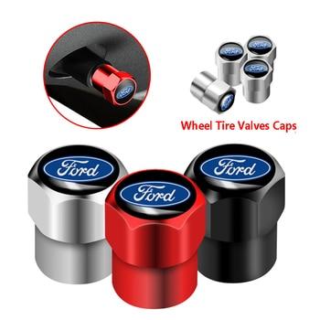 4 шт., колпачки для автомобильных колес Ford Fiesta Focus Fusion Ranger Explorer Escape Kuga Mondeo Ecosport Стержни и колпачки клапана      АлиЭкспресс