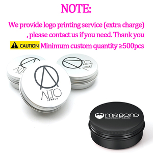Image 3 - 24Pcs 50g Metal Aluminum Round Tin Cans Box Black Empty Cosmetic Cream Jar Pot Case Screw Thread Lid Lip Balm Container
