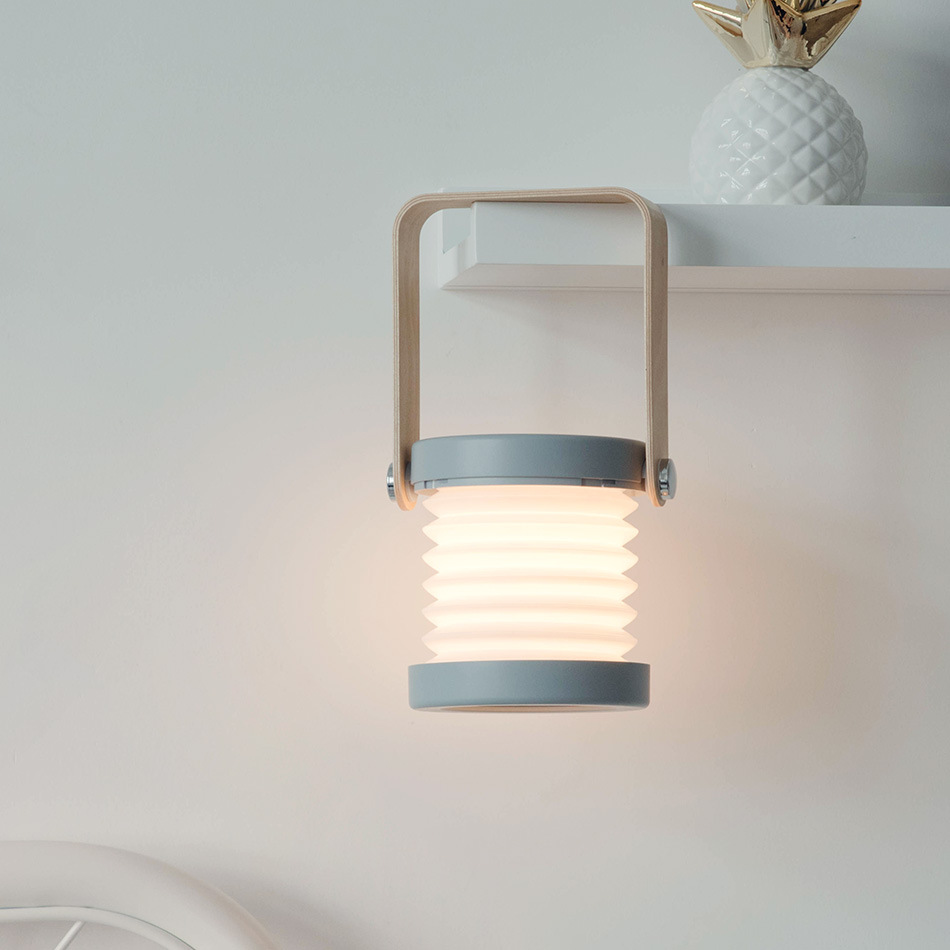 Складная Настольная лампа портативный фонарь с деревянной ручкой