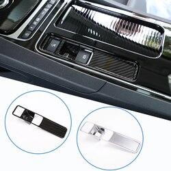 Botões de freio parque elétrico carbono capa segurar guarnição apto para f-pace xe xf 2016 2017 2018 acessórios do carro
