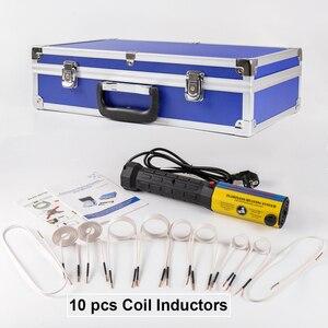 Магнитный индукционный нагреватель болт инструмент для снятия тепла Ручной Индукционный Нагреватель с инструмент катушек коробка набор и...
