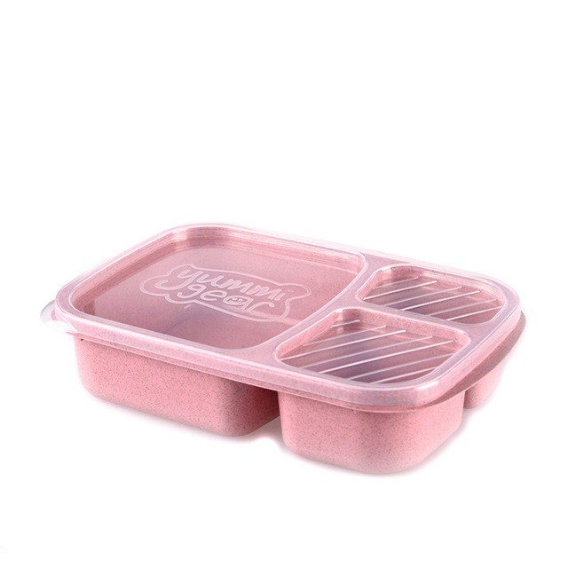 Microwavable Lunch Box Plastic BPA Free Divided