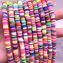 6mm Flache Runde Farbe Polymer Clay Perlen Scheiben für Mädchen Armband Die Diy Halskette amp Armband Zubehör cheap HWYCRRGT CN (Herkunft) NONE Runde Form