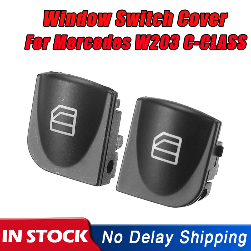For Mercedes W203 C-CLASS C320 C230 C240 Power Window Switch Console Cover Caps